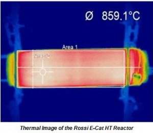 Thermal Image of the Rossi E-Cat HT Reactor