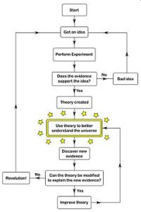 scientific theory flowchart